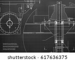 blueprints. engineering... | Shutterstock .eps vector #617636375