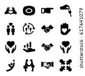 hands icons set. set of 16... | Shutterstock .eps vector #617641079