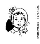 baby with round bonnet   retro... | Shutterstock .eps vector #61764226