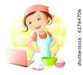 online recipe | Shutterstock .eps vector #61764706