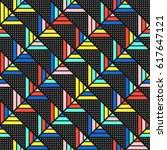 colorful bold bright seamless... | Shutterstock . vector #617647121