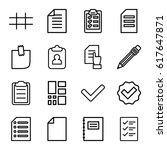 list icons set. set of 16 list... | Shutterstock .eps vector #617647871