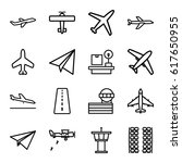 airplane icons set. set of 16... | Shutterstock .eps vector #617650955