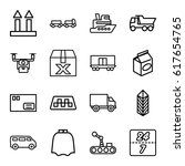 delivery icons set. set of 16... | Shutterstock .eps vector #617654765