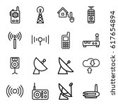 wireless icons set. set of 16... | Shutterstock .eps vector #617654894