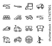vehicle icons set. set of 16... | Shutterstock .eps vector #617657801