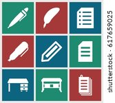 writing icons set. set of 9...   Shutterstock .eps vector #617659025