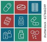 prescription icons set. set of... | Shutterstock .eps vector #617666249