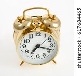 Small photo of Copper color vintage style bell alarm clock