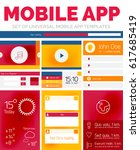vector set of mobile app layout ...