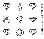 precious icons set. set of 9... | Shutterstock .eps vector #617685461