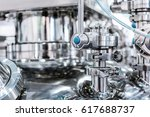 steel pipe with a stopcock on... | Shutterstock . vector #617688737