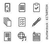 note icons set. set of 9 note... | Shutterstock .eps vector #617689034