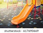 children playground under... | Shutterstock . vector #617690669