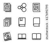 publish icons set. set of 9... | Shutterstock .eps vector #617690795