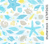 vector seamless pattern with... | Shutterstock .eps vector #617692631
