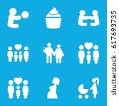 mom icons set. set of 9 mom...   Shutterstock .eps vector #617693735
