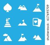 peak icons set. set of 9 peak... | Shutterstock .eps vector #617695709