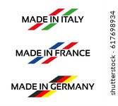 vector set logos made in italy  ... | Shutterstock .eps vector #617698934