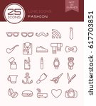 line icons fashion   Shutterstock .eps vector #617703851