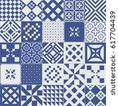 big set of tiles background.... | Shutterstock . vector #617704439