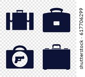 briefcase icons set. set of 4...   Shutterstock .eps vector #617706299