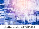 stock market or forex trading... | Shutterstock . vector #617706404