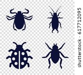 beetle icons set. set of 4... | Shutterstock .eps vector #617712095