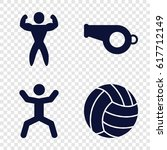 exercise icons set. set of 4... | Shutterstock .eps vector #617712149