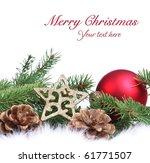christmas ornament on white... | Shutterstock . vector #61771507