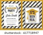 graduation party vector... | Shutterstock .eps vector #617718947