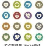 love vector icons for user... | Shutterstock .eps vector #617722535