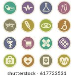 medicine vector icons for user... | Shutterstock .eps vector #617723531