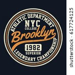 new york  brooklyn college... | Shutterstock .eps vector #617724125