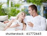 in love with a young couple in... | Shutterstock . vector #61772665