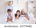happy young family with... | Shutterstock . vector #61772680
