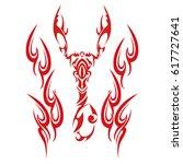 tribal scorpion | Shutterstock .eps vector #617727641