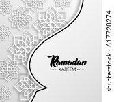ramadan kareem arabic... | Shutterstock .eps vector #617728274