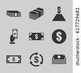 set of 9 tax filled icons such... | Shutterstock .eps vector #617729681