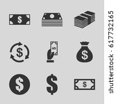 tax icons set. set of 9 tax... | Shutterstock .eps vector #617732165