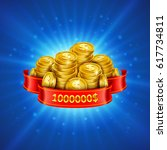 jackpot winner background.... | Shutterstock .eps vector #617734811