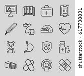 medical icons set. set of 16... | Shutterstock .eps vector #617738831