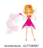 beautiful fairy | Shutterstock . vector #617738987