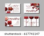 makeup artist business card.... | Shutterstock .eps vector #617741147