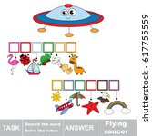 educational puzzle game for... | Shutterstock .eps vector #617755559