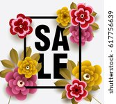 summer sale card with different ... | Shutterstock .eps vector #617756639