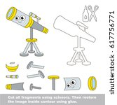 use scissors and glue and...   Shutterstock .eps vector #617756771