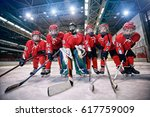 youth hockey team   children... | Shutterstock . vector #617759009