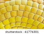 texture of yellow mosaic - stock photo