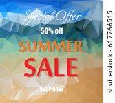 summer sale template banner... | Shutterstock .eps vector #617766515